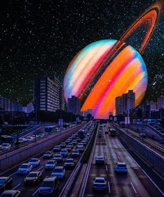 City Scape with space planet composition art Nostalgic Arts with vintage, photographic artwork rainbow photographic Photo Wall Collage, Picture Wall, Collage Art, Artsy Picture, Art Collages, Aesthetic Backgrounds, Aesthetic Iphone Wallpaper, Aesthetic Wallpapers, Trippy Wallpaper