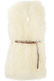 MICHAEL Michael Kors|Belted shearling vest|NET-A-PORTER.COM - StyleSays