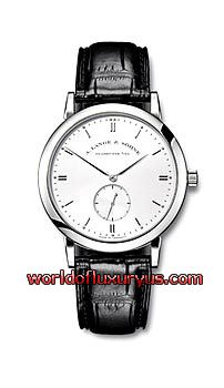 A. Lange and Sohne - Saxonia - 215.026 (18 k White Gold / Silver Dial / Leather - Black Crocodile) - See more at: http://www.worldofluxuryus.com/watches/A-Lange-and-Sohne/Saxonia/215.026/88_93_498.php#sthash.1YlxhAzi.dpuf