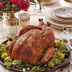 Dry Brined-Herb Roasted Turkey | Skip the cumbersome wet brines that call for soaking turkey and making the skin flabby. This classic overnight dry brine—a simple herb, salt, and sugar mixture—gives the turkey deep flavor and a crackly crust.