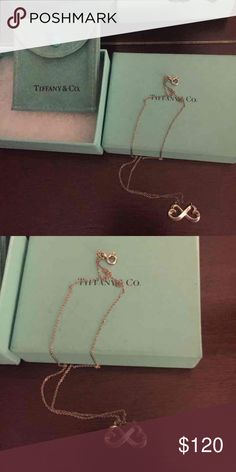 Tiffany Tiffany infinity necklace in silver with box and bag Tiffany & Co. Jewelry