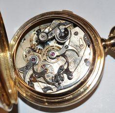 Huge 18K Solid Gold Antique Split Seconds Pocketwatch 1890 by Agassiz 157GRAMMES | eBay