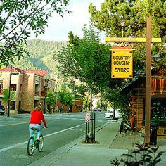 Ketchum, Idaho. Craig and I biking through Sun Valley/Ketchum, Idaho. 2012 ~dkj