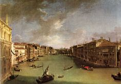 Canaletto - Le grand Canal vu du Campo San Vio, 1723