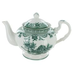 Green Toile Porcelain - 5 Cup Teapot