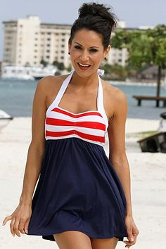 edf0244ab4 Sailor Girl Swim Dress (Reg/Plus Size) at Cowgirl Blondie's Dumb Blonde  Boutique