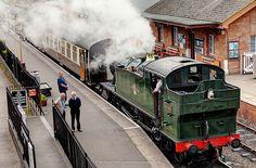Steam Train at Bishops Lydeard, Taunton, Somerset, England by Fragga, via Flickr