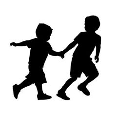 Looking for EASY Children's Decor? Life-size CHILDREN SILHOUETTE WALL DECALS are perfect for decorating youth rooms, daycares, schools, homes. Kids Silhouette, Running Silhouette, Silhouette Cameo, Silhouettes, Kids Swing, Boys Playing, Baby Kind, Vinyl Decals, Wall Decals