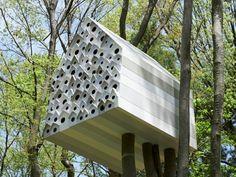 Vogelhaus Baumhaus bauen gestalten originelle Idee