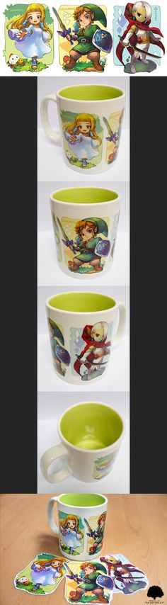 zelda ss mug cup by muse-kr