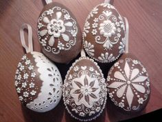 Slovak gingerbread Easter Eggs