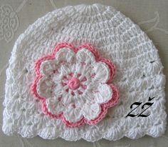 Jarní/podzimní čepička - bílá/růžová Crochet Hats, Beanie, Fashion, Knitting Hats, Moda, La Mode, Fasion, Beanies, Fashion Models