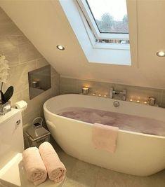 My dream home, bedroom decor, dream bathrooms, dream rooms, dream Home, House Rooms, Dream Bathrooms, Attic Bathroom, New Homes, Glamorous Bathroom, House, Loft Bathroom, Bathroom Design