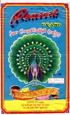 Peacock brand firecrackers