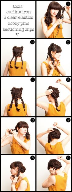 """allegedly"" easy romantic braids...I'm going to try this tomorrow :)"
