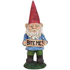 Collectible Bite Me Funny Rude Resin Garden Gnome Yard Décor Lawn Ornament Exhart http://www.amazon.com/dp/B00SK7AWMQ/ref=cm_sw_r_pi_dp_h1Jewb1K0FJ62