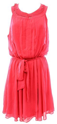 Jessica Simpson NEW Pink Women's Size 6 Belted Pleated Sheath Dress $128