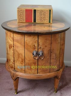 Vintage Weiman Burled Table Rarity, Timeless Design, Vintage Furniture, Liquor Cabinet, Restoration, Storage, Table, Home Decor, Purse Storage