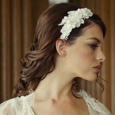 Vintage Styled Floral Wedding Headband