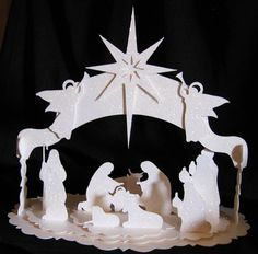 beautiful 3D Nativity available as Silhouette Studio file