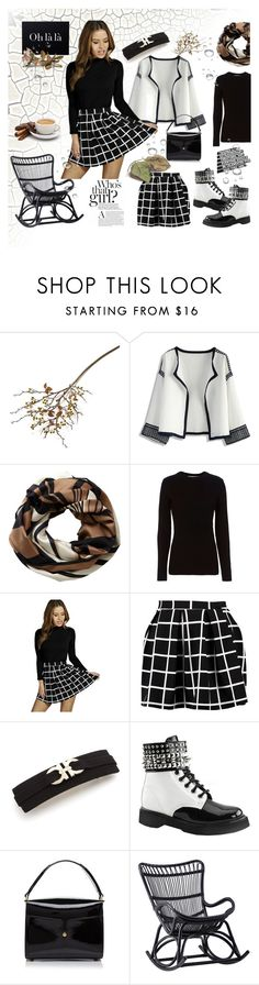 """""""Skater Skirt Style"""" by hilde-iii ❤ liked on Polyvore featuring Crate and Barrel, Chicwish, Pure Collection, rag & bone, Boohoo, Salvatore Ferragamo, Demonia, Marc Jacobs and Sika"""