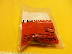 ITT Cannon Connector KPT01F14-19P Straigh 19 Pin with Cable Clamp New in Sealed  #ITTCannon