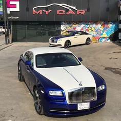 """Instagram media by mycarjeddah - Double RR #RollsRoyce #Wraith  # """" Gloss Blue """" hood,roof,trunk#wrap #cars #jeddah #fast #luxury #exotic #2017 # @Mycarjeddah"""