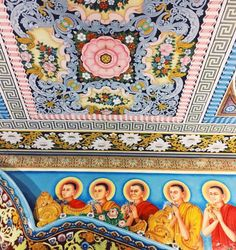 In love with this Temple's ceiling paintings 🙏🏼 (at Old Dutch Fort, Galle) Buddhist Architecture, Ceiling Painting, Sri Lanka, Dutch, Beach Mat, Temple, Buddha, Asia, Outdoor Blanket