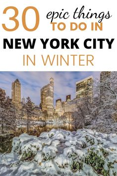 Planning a trip to New York for the holidays or later during winter? Find out all the best things to do in New York this winter, from winter activities to places to keep you warm, discover the best of New York in Winter. New York City Vacation, Visit New York City, New York City Travel, New York Travel Guide, Nyc Itinerary, North America Destinations, Travel Destinations, York Things To Do, Los Angeles Travel