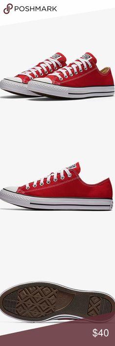 🔥NWOT Converse Never worn red men's converse!! No box Converse Shoes
