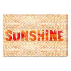 Oliver Gal 'Sunshine' Wall Art (480 RON) ❤ liked on Polyvore featuring home, home decor, wall art, words, art, orange, text, orange home decor, quote wall art and orange wall art