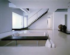 conversation pit Vintage Interiors, Hotel Interiors, Modern Interiors, Minimalist Interior, Minimalist Living, Interior Design Lounge, Sunken Living Room, Bali, Living Styles