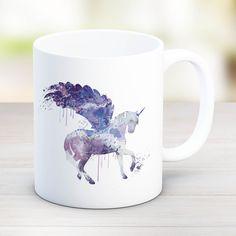 Unicorn Mug, Unicorn watercolor mug, Unicorn Purple unicorn mugs, unicorn gifts, unicorn coffee mugs, tea mugs, cute mugs birthday gift MU43 by artRuss on Etsy