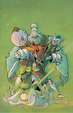 Historias Corrientes. Ilustración de Craig Tucker para el comic-book oficial.
