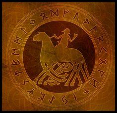 Odin Rune Circle by stefanialovera