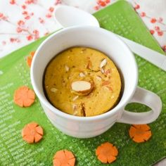 Eggless Carrot Mug Cake - So soft and yummy carrot cake in mug, easy n quick recipe.