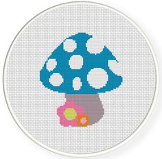 Mushroom PDF Cross Stitch Pattern Needlecraft por DailyCrossStitch