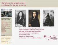 Visita nuestro site sobre Carolina Coronado. I Premio Joaquín Sama a la Innovación Educativa 2010