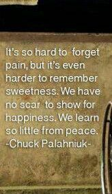 remember sweetness Chuck palahniuk