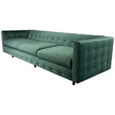 Tuxedo Sofa in Velvet with Button Detail by Harvey Probber, 1960s | See more antique and modern Sofas at https://www.1stdibs.com/furniture/seating/sofas