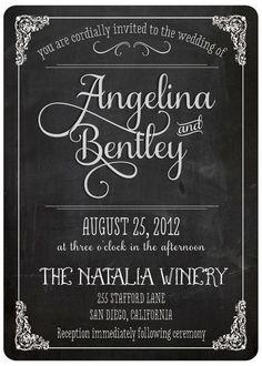 Vintage Wedding Invitation - Angelina (set 3)
