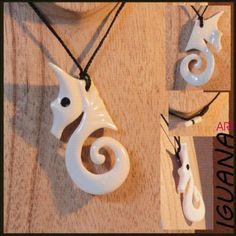 Maori Spiral pendant carved in bone