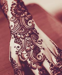 Color Ink Henna Tattoos Designs For Hands