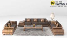 Bàn ghế sofa gỗ