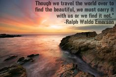 Inspirational #travel #quote from Ralph Waldo Emerson