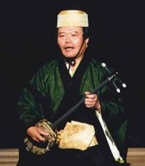 Nishie designated a Living National Treasure for Kumi Odori Ongaku-uta Sanshin
