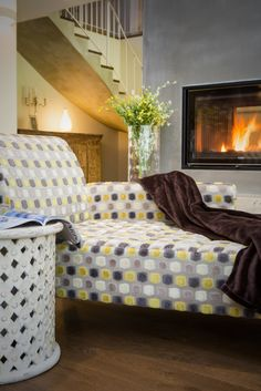 Home Spirit sofa with african inspired table from Le Patio.