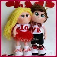 Muñecos enamorados amigurumis