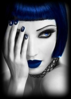 like this image also for nails, and love the coloured wig