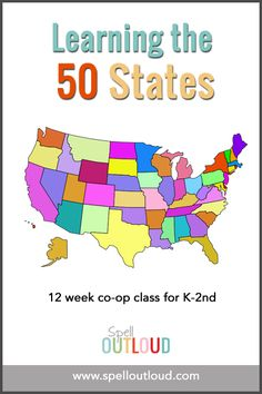 Learning the 50 States - ideas for teaching the 50 US states to kids in K-2 #geography